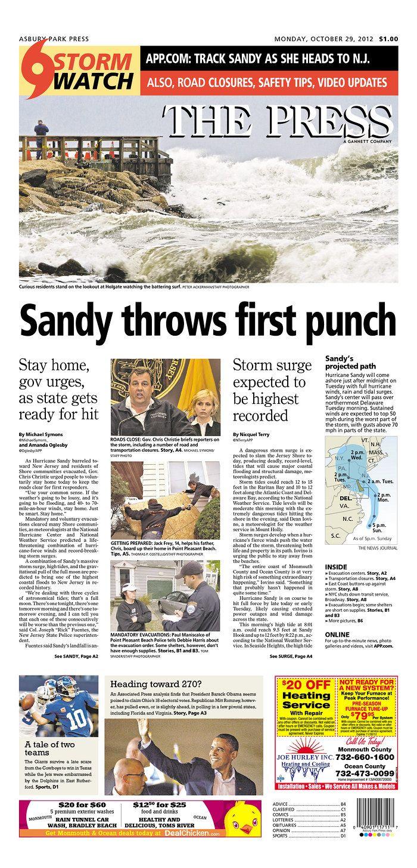 Oct 29 2012 Asbury Park Press Storm Surge Asbury Storm App