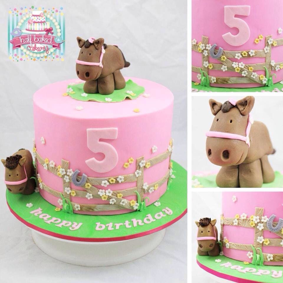 Outstanding Sweet Little Girls Horse Cake With Images Horse Birthday Cake Birthday Cards Printable Giouspongecafe Filternl