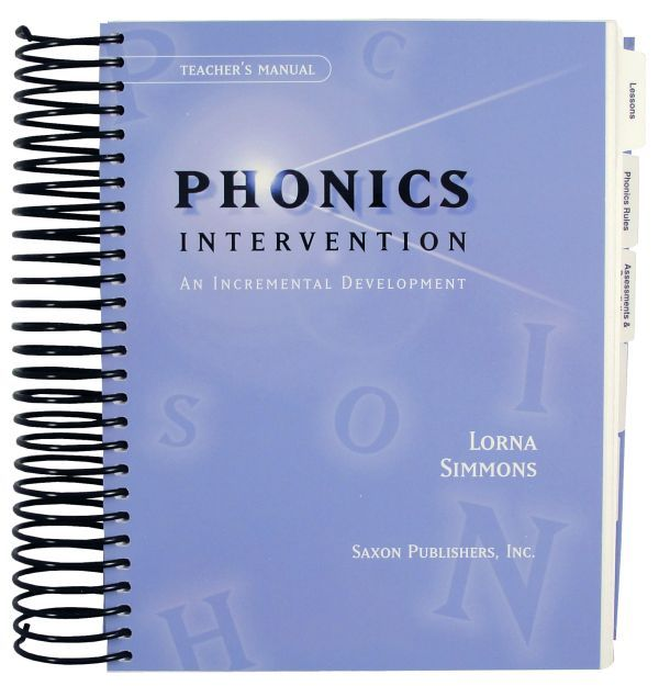 Saxon Phonics Intervention Home Study Kit For Older Struggling