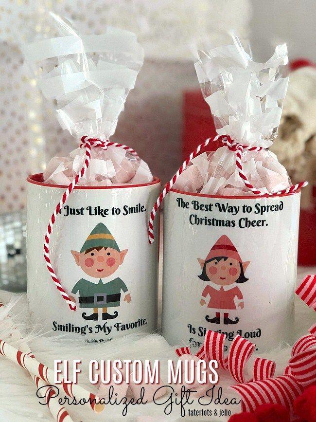 ELF Custom Mugs - personalized holiday gift idea!