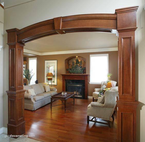 Apple Creations Interiors Arch Design Living Room Wood Floor Interior Columns Home Interior Design