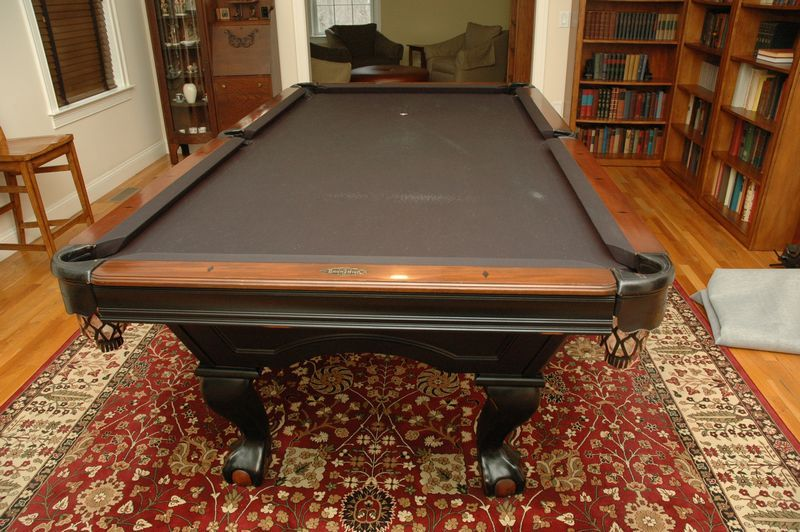 Billiard Items Include Brunswick Green Briar II Pool Table With - Pool table scorekeeper