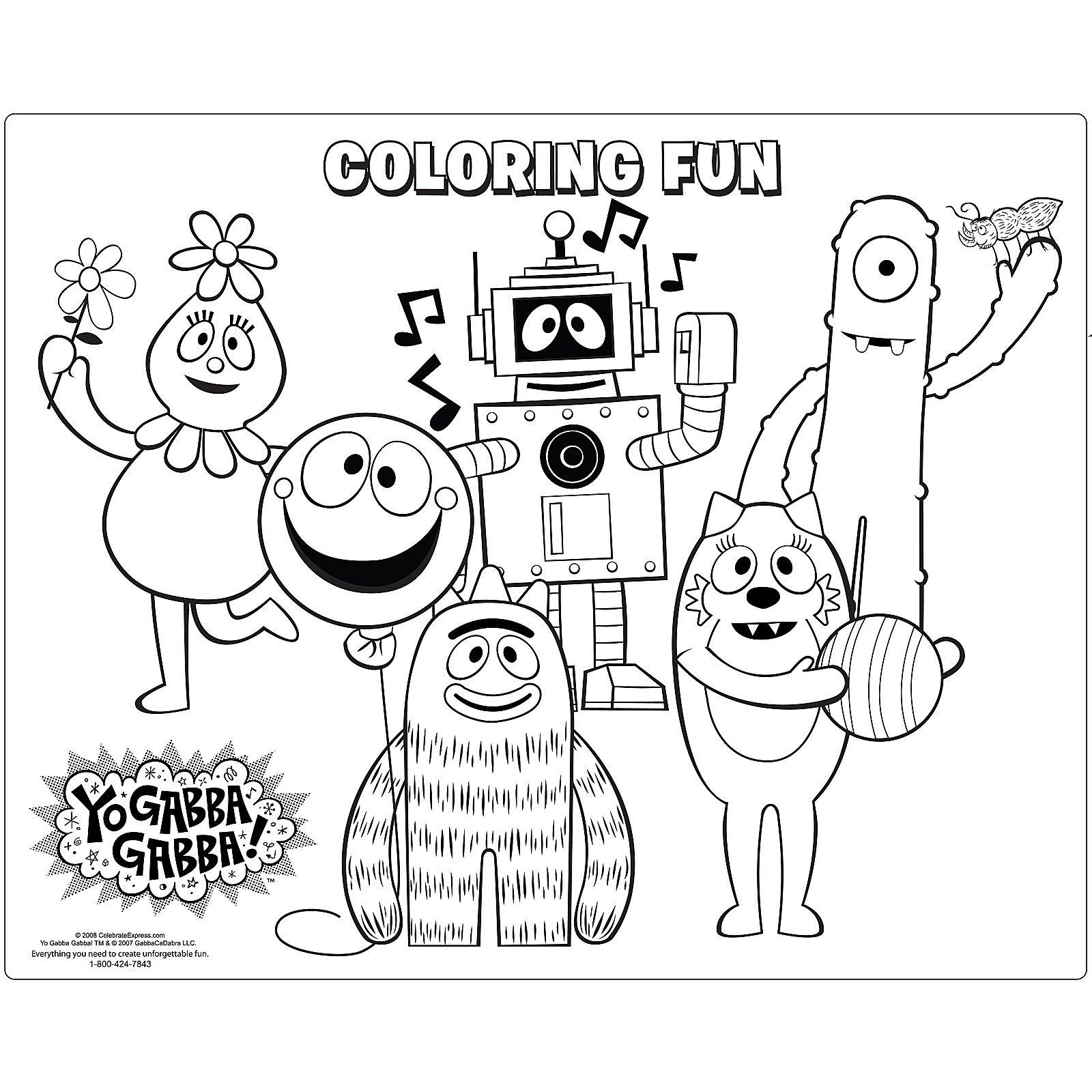 coloring pages in 2020 | Dance coloring pages, Gabba gabba ...