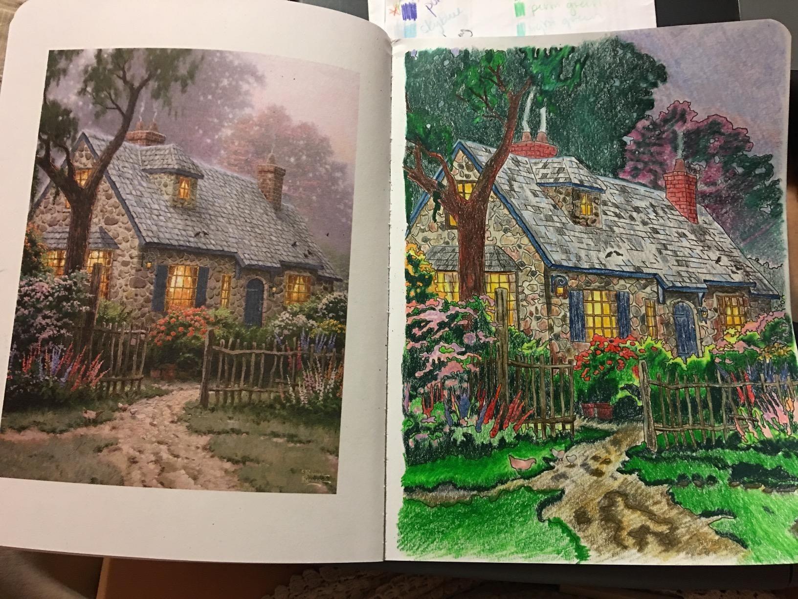 Posh Adult Coloring Book Thomas Kinkade Designs For Inspiration