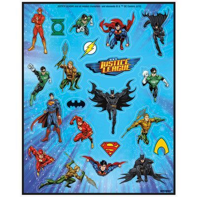 Justice League Sticker Sheets Sticker Sheets Paper Party Decorations Coloring Stickers