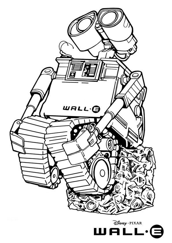 Name Walle Figure Pixar Wall E Coloring Pictures Jpg Wallpapers