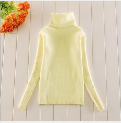 2016 Lady Short Design Slim Long-Sleeve Cashmere Turtleneck Pullover Women Sweater Basic Shirt Warm Tops Wool Knitted Sweaters