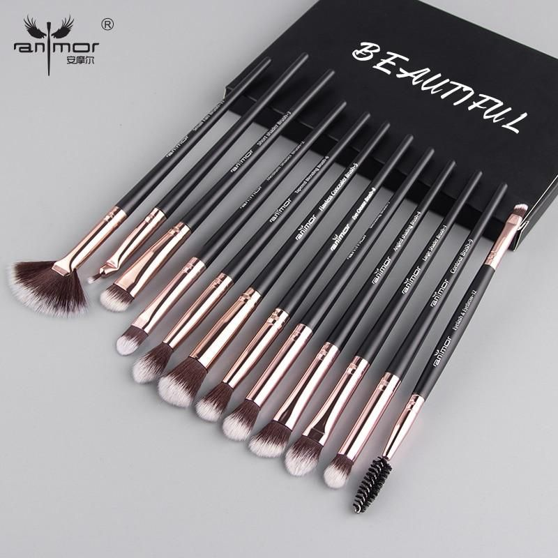Anmor Makeup Brushes Set 3 12pcs Lot Eye Shadow In 2020 Makeup Brush Set Makeup Brush Set Professional Blending Eyeshadow