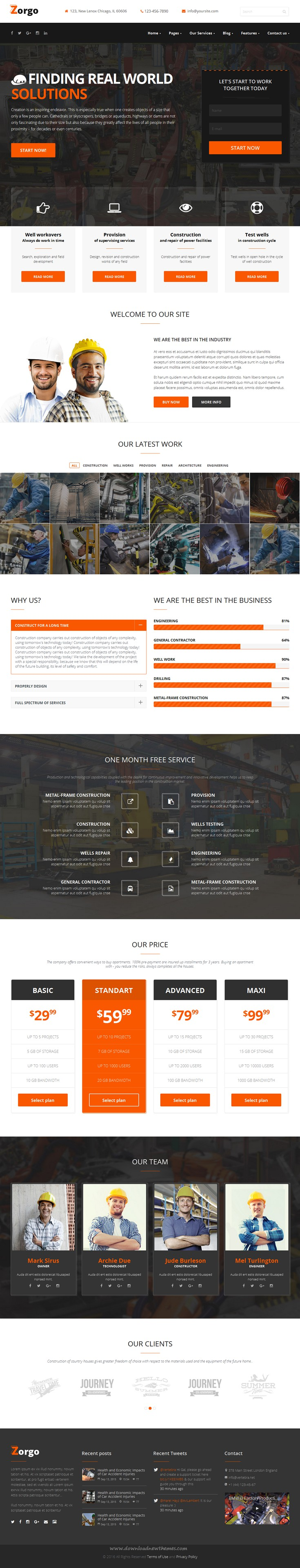 Zorgo Construction & Industrial HTML template | Gas company ...