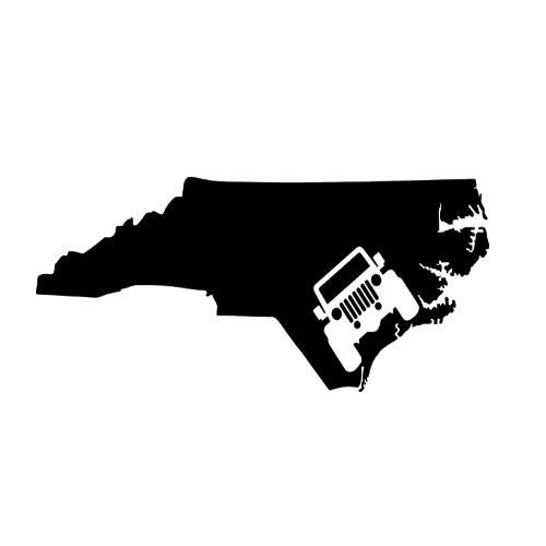 Jeep North Carolina Vinyl Decal Sticker By