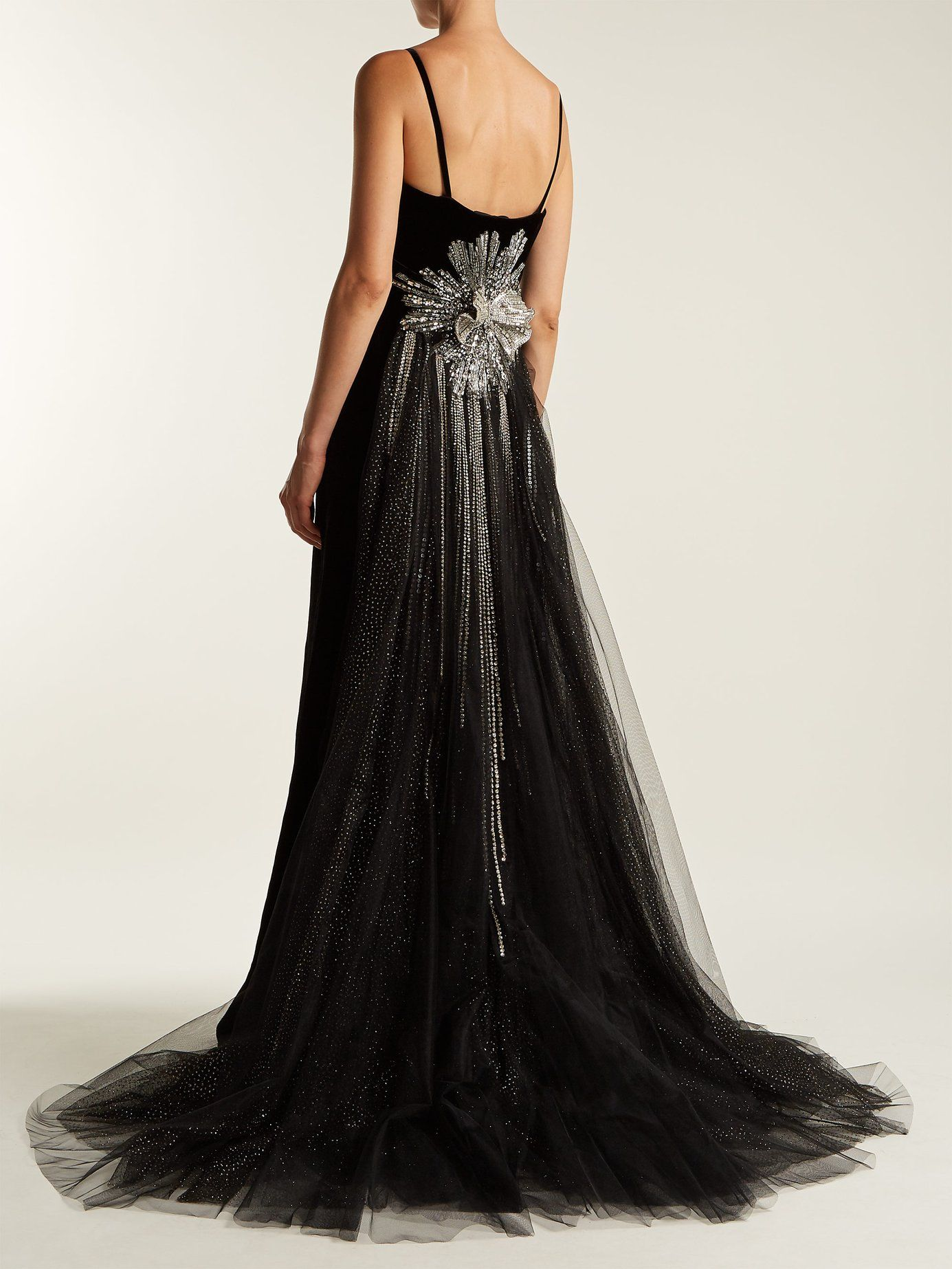a39efe108 Crystal-embellished velvet gown | Gucci | MATCHESFASHION.COM | Gowns ...