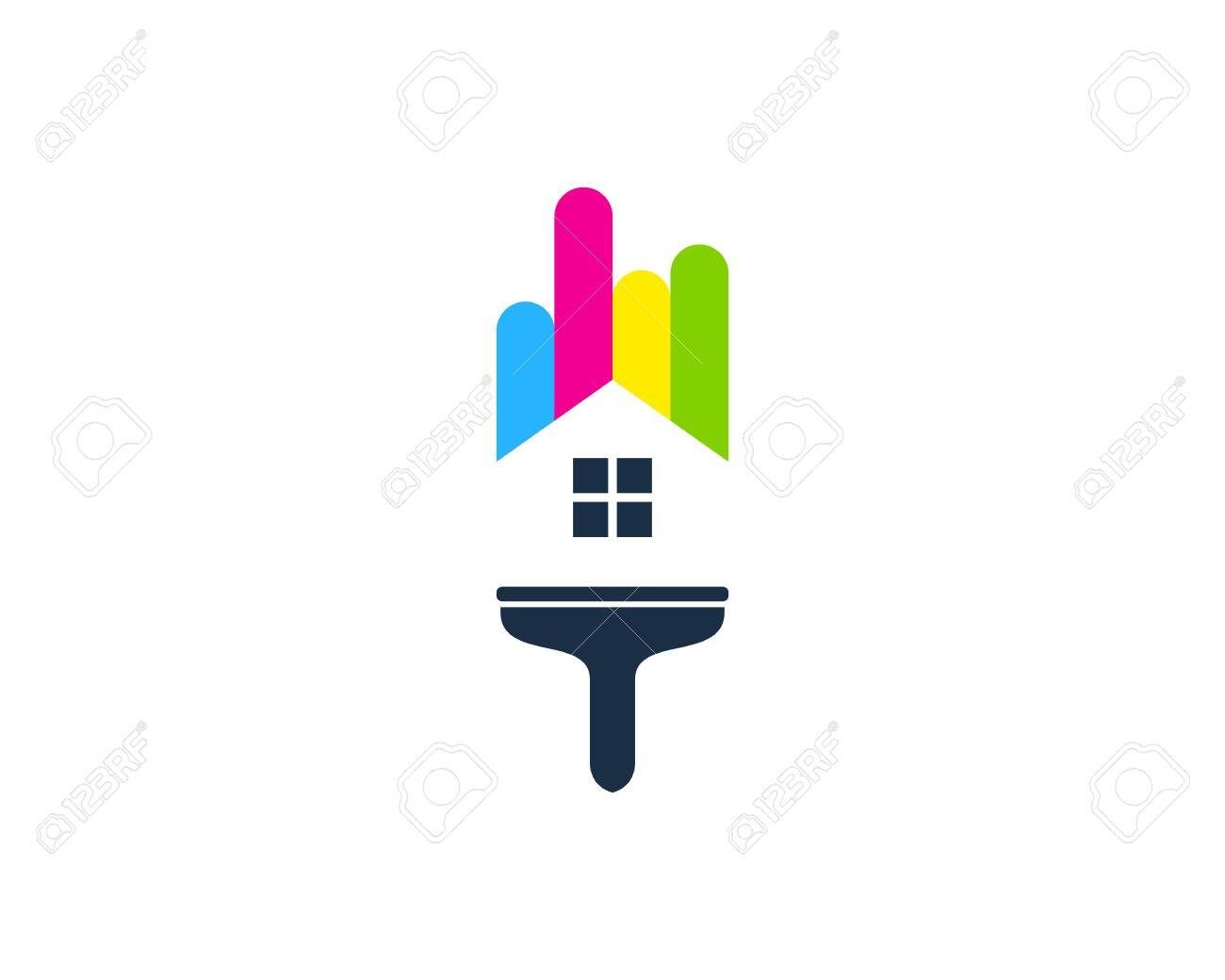Estate Paint Logo Icon Design Illustration