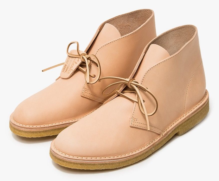 save off 60184 ba4f8 Clarks Originals Veg Tan Leather