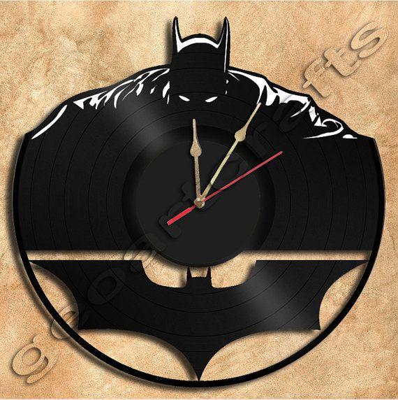 Batman LP Clock Repurposed Vinyl Record Clocks and Wall Art