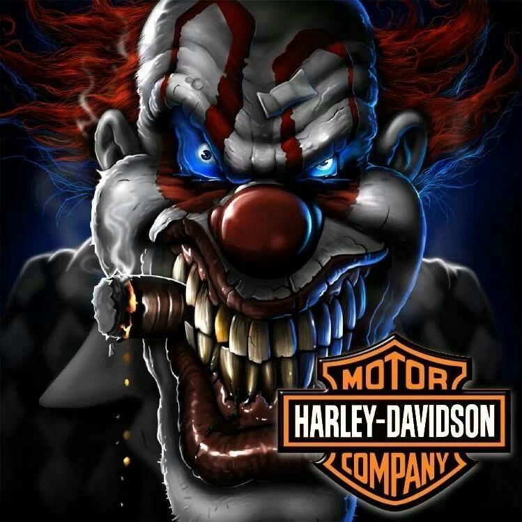 Harley Davidson Clown T Shirts