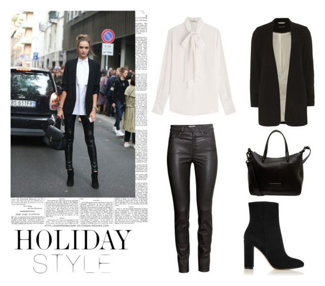 """""""#44"""" by clairecnlp ❤ liked on Polyvore featuring H&M, Gianvito Rossi, Valentino, Dorothy Perkins, Marc by Marc Jacobs and holidaystyle"""