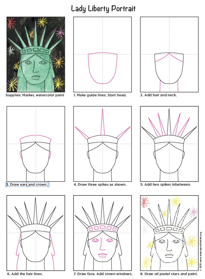 How to draw the statue of liberty diagram fifth grade pinterest how to draw the statue of liberty diagram ccuart Gallery
