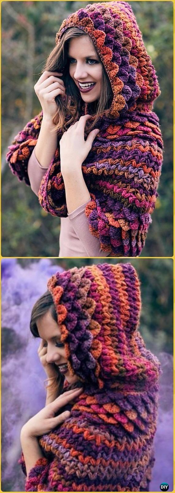 Crochet Crocodile Stitch Capelet Free Pattern - Crochet Women Capes ...