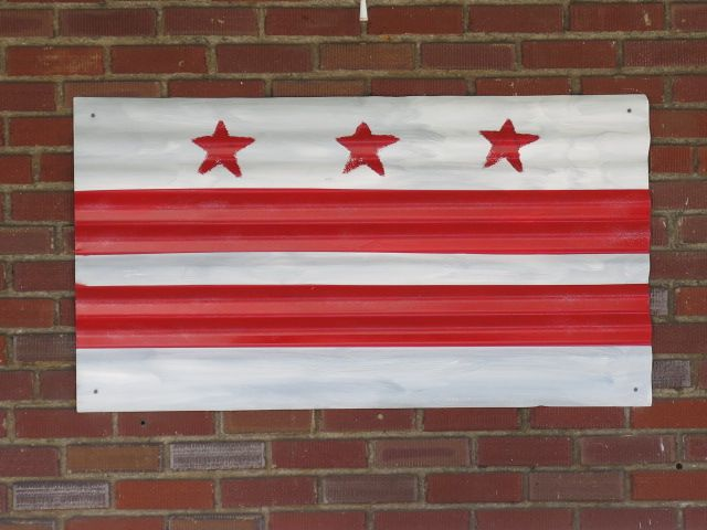 Scrap metal DC flag from Cleveland Park  From Prince of