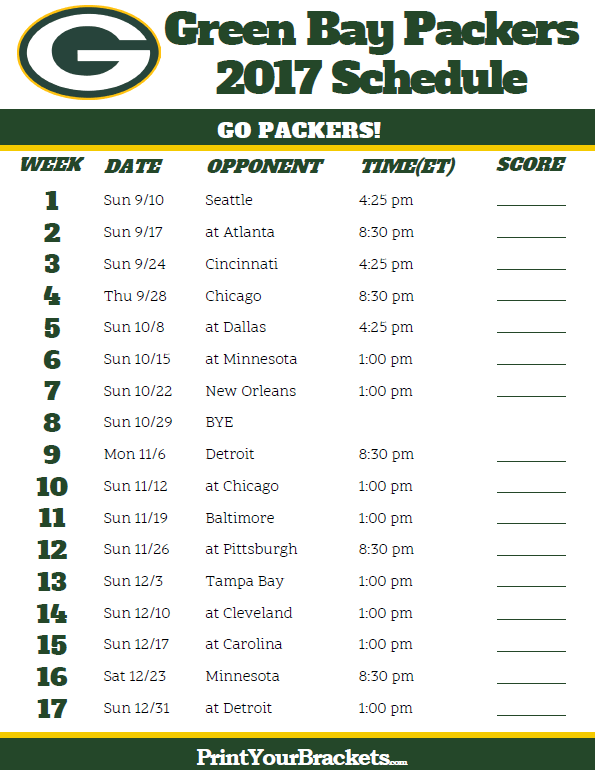 Packers Schedule | Green Bay Packers – packers.com