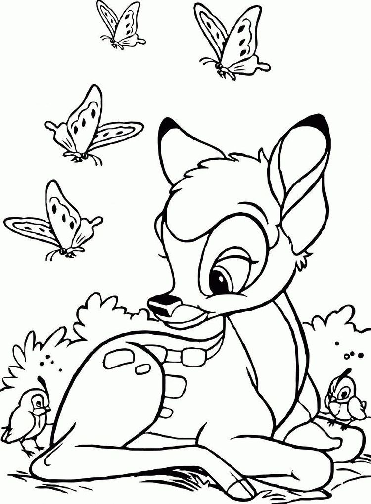 Bambi Coloring Pages For Kids Free Coloring Sheets Cute Coloring Pages Deer Coloring Pages Disney Coloring Pages