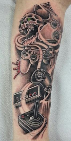 Video Game Tattoos Tattoos For Guys Gaming Tattoo Video Game Tattoos