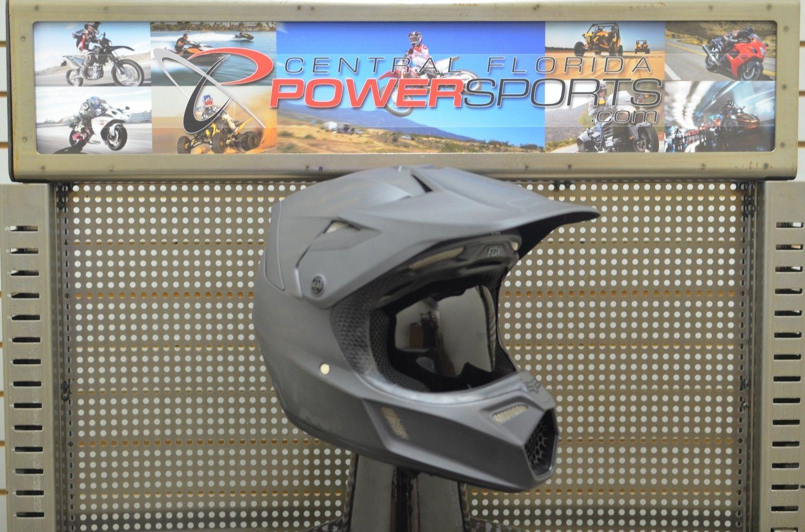 Fox racing adult v motocross helmet matte black size small