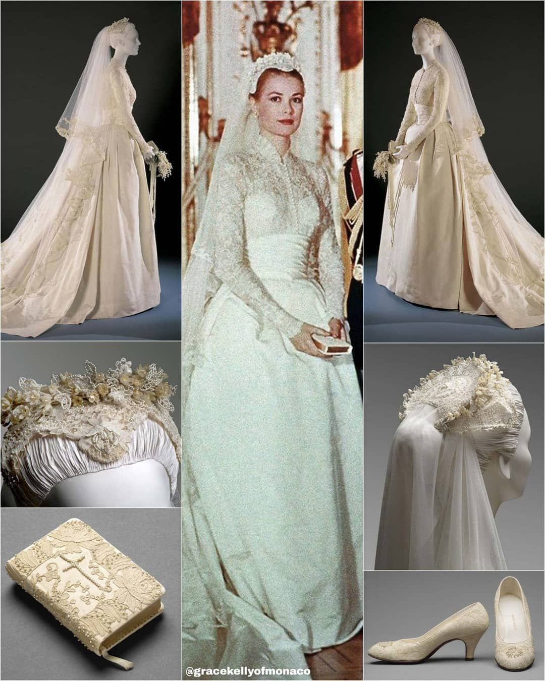 Hsh Princess Grace On Instagram Wedding Of Prince Rainier And Princess Grace In 1956 On 18th April 195 Wedding Dresses Lace Wedding Dresses Princess Grace [ 1350 x 1080 Pixel ]