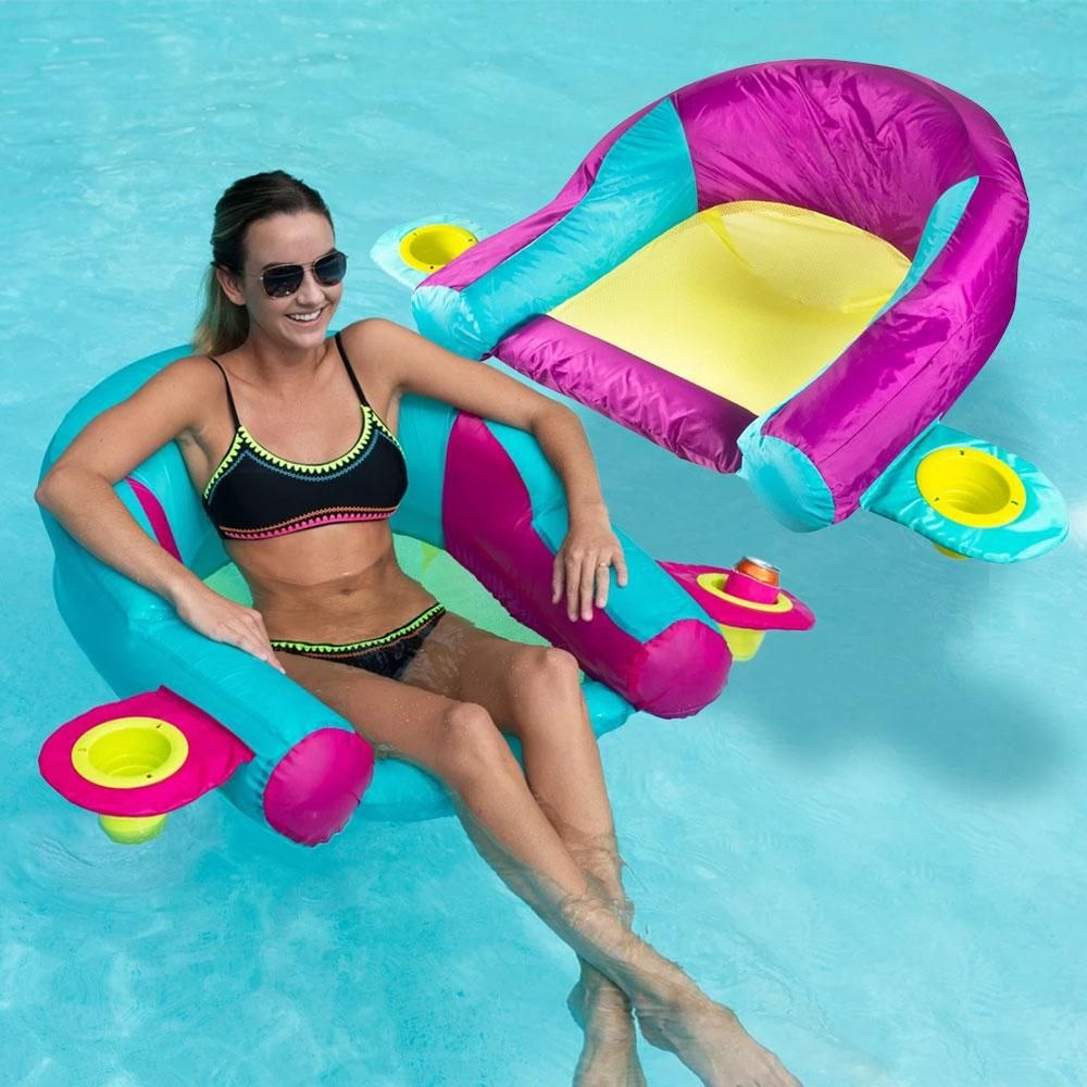 SwimWays Aqualinx Aqua/Pink and Purple/Aqua Combo Pack Pool ...