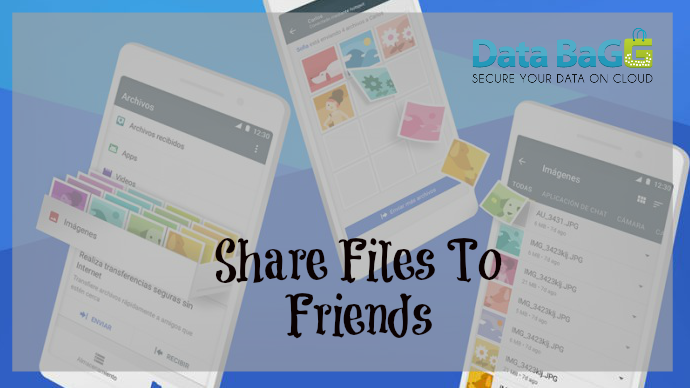 Transfer big files up to 1GB to your friends with our Data Bagg