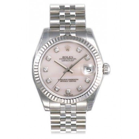 Rolex Datejust Lady 31 Pink Mother,of,pearl with Diamonds