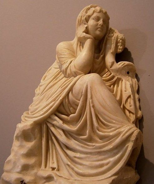 Marble statue of Demeter -  1st century CE, at the Archeological Museum of Heraklion