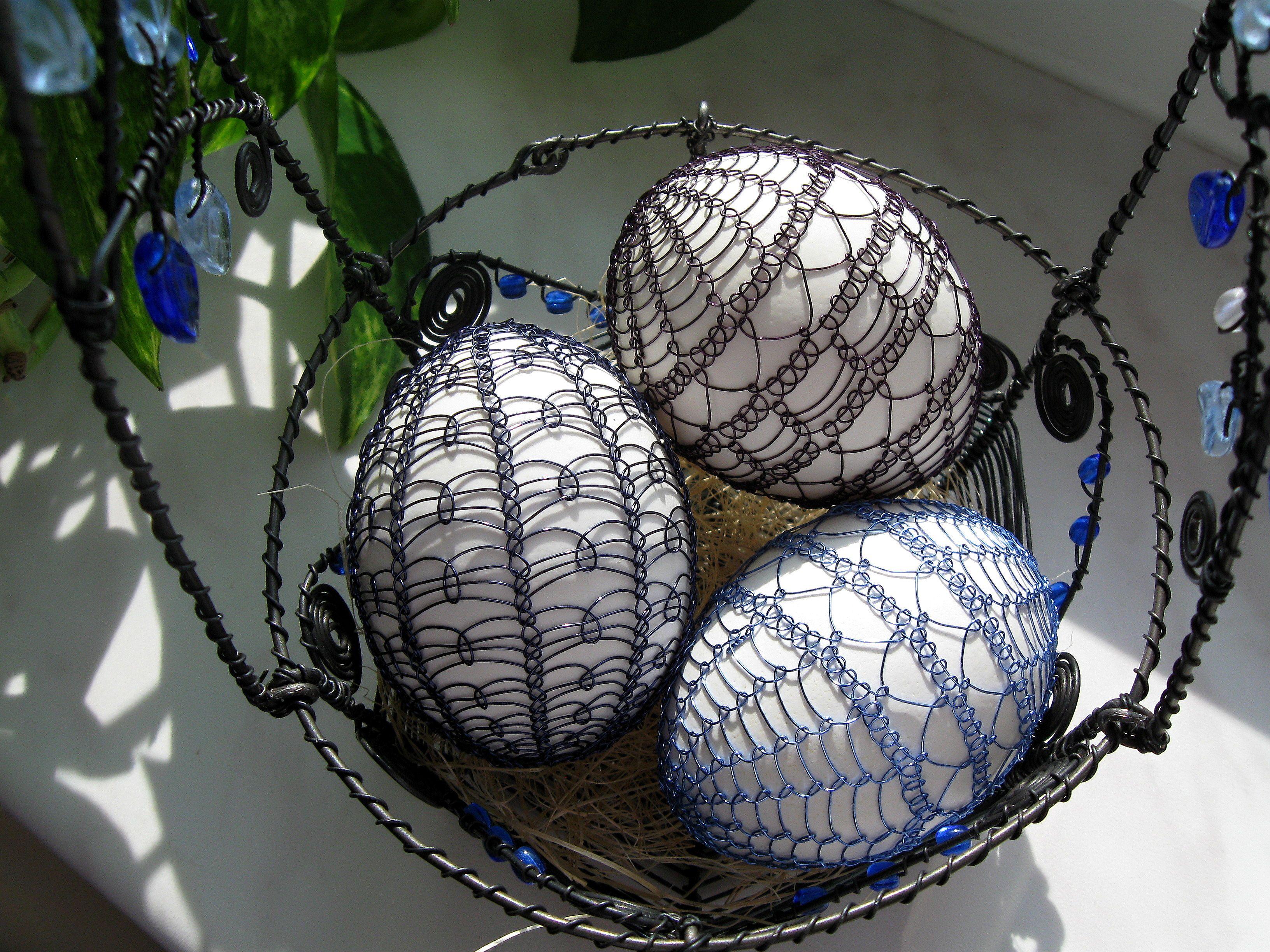 Drátované Velikonoce | Netradiční velikonoční vajíčka | Pinterest ...