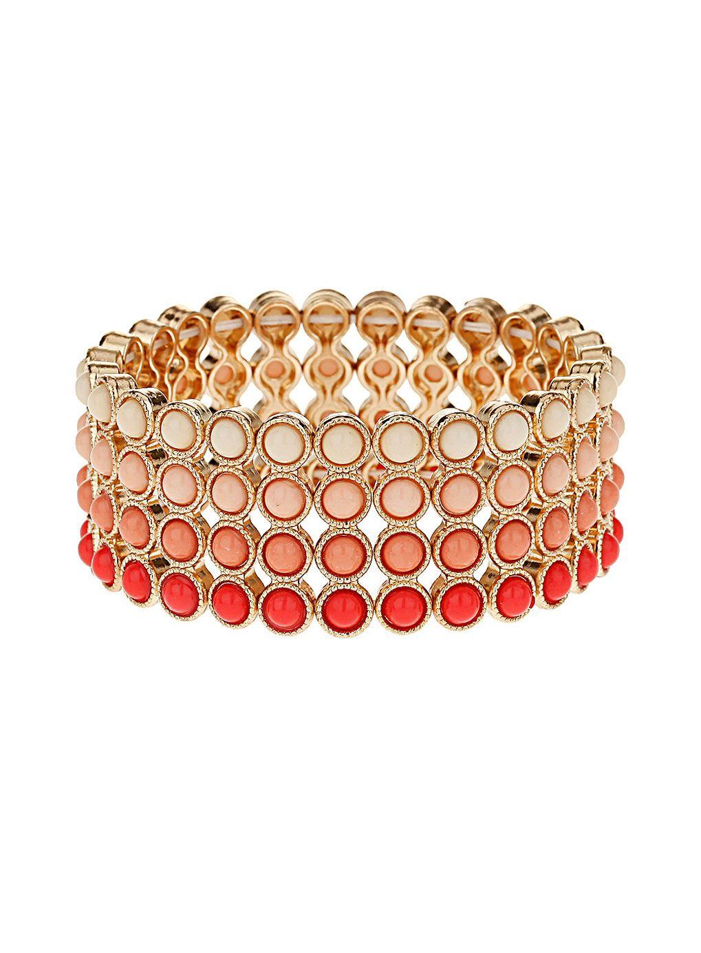 Simple beaded wristwear - Dorothy Perkins