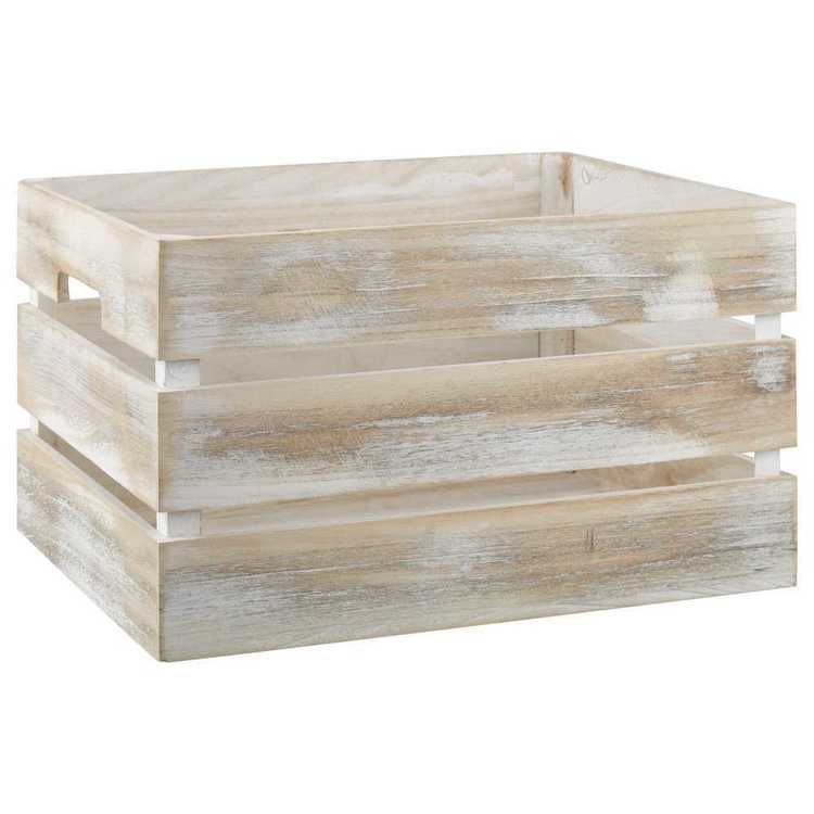Bouclair Calming Coccon Wood Crate White Beige In 2019