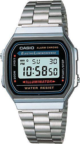 9f0c6f71f883 Casio A168W - Reloj Unisex Negro Plata