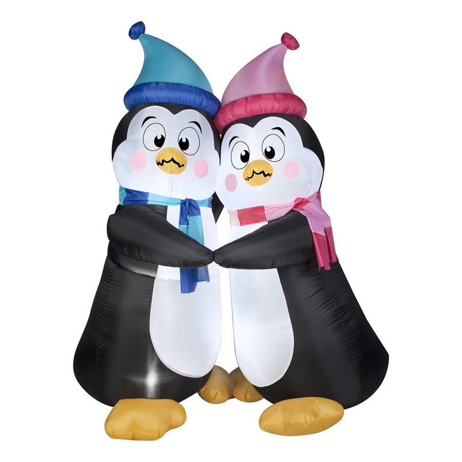 Shop Gemmy 6-ft Internal Light Penguins Christmas Inflatable at ...
