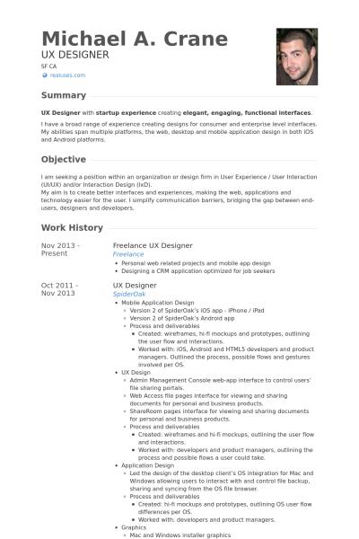 Freelanceuxdesignerresume Example Png 400 600