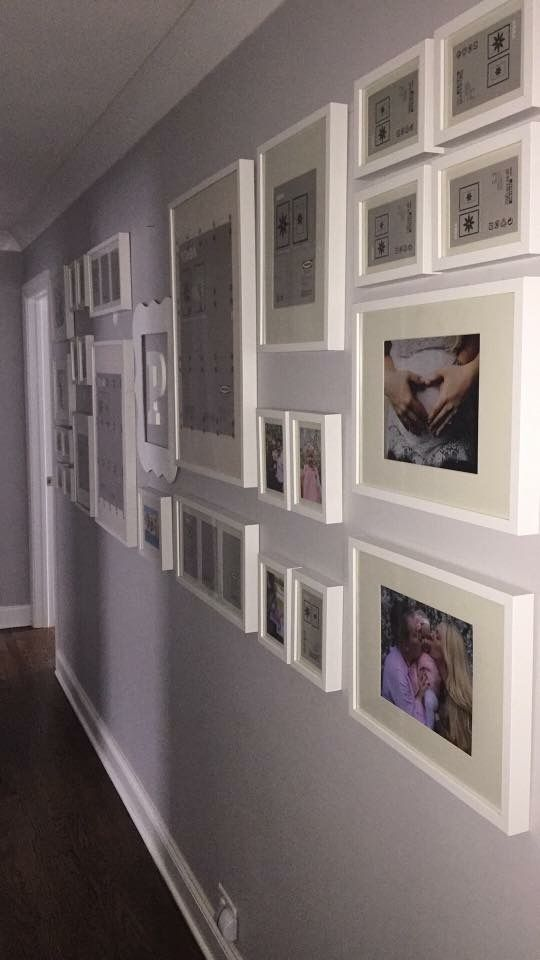 Narrow Hallway With White IKEA Frames