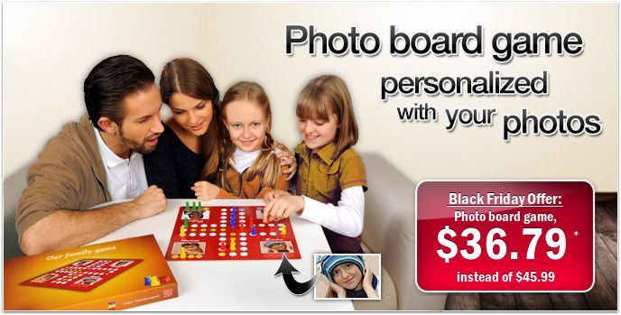 Design your personalized Photo board game. So cool!!