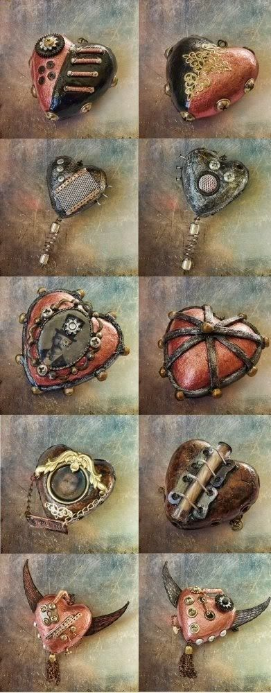 Steam-punk Hearts Check out more #Art & #Designs at: http://www.vektfxdesigns.com