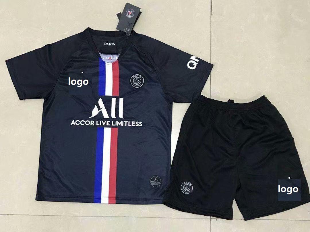 2020 21 Children Psg 3rd Away Jordan Black Soccer Uniforms Football Kits In 2020 Soccer Uniforms Football Kits Soccer