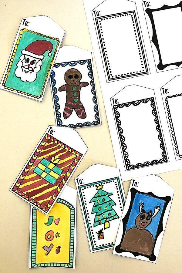 Printable Art Frame Gift Tags | Pinterest | Navidad