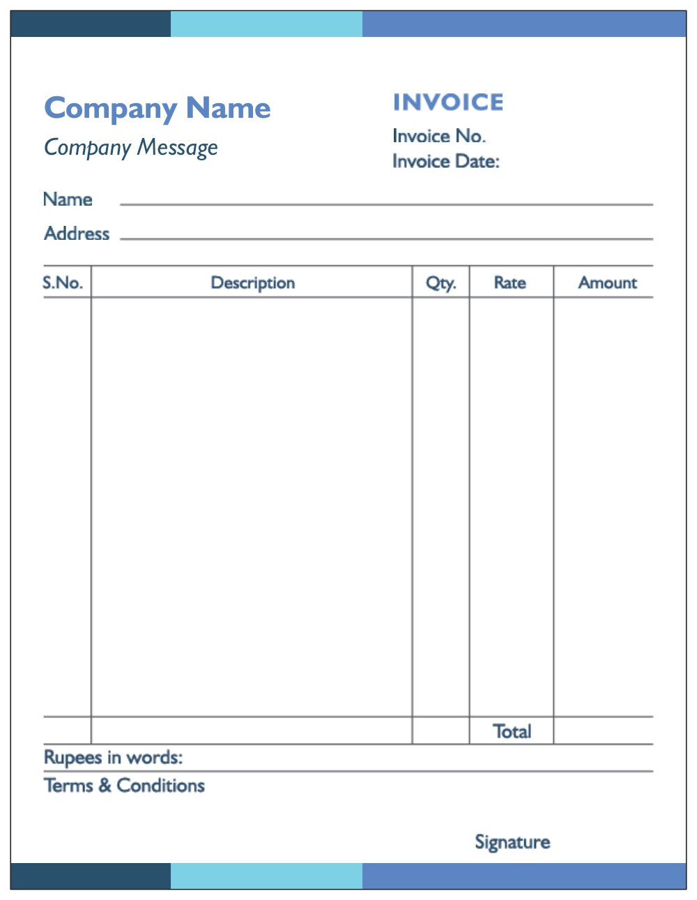 Print Custom Bill Book Receipt Books Invoice Books And Notepads With Logo At Vistaprint In Microsoft Word Invoice Template Invoice Template Word Invoice Design Template