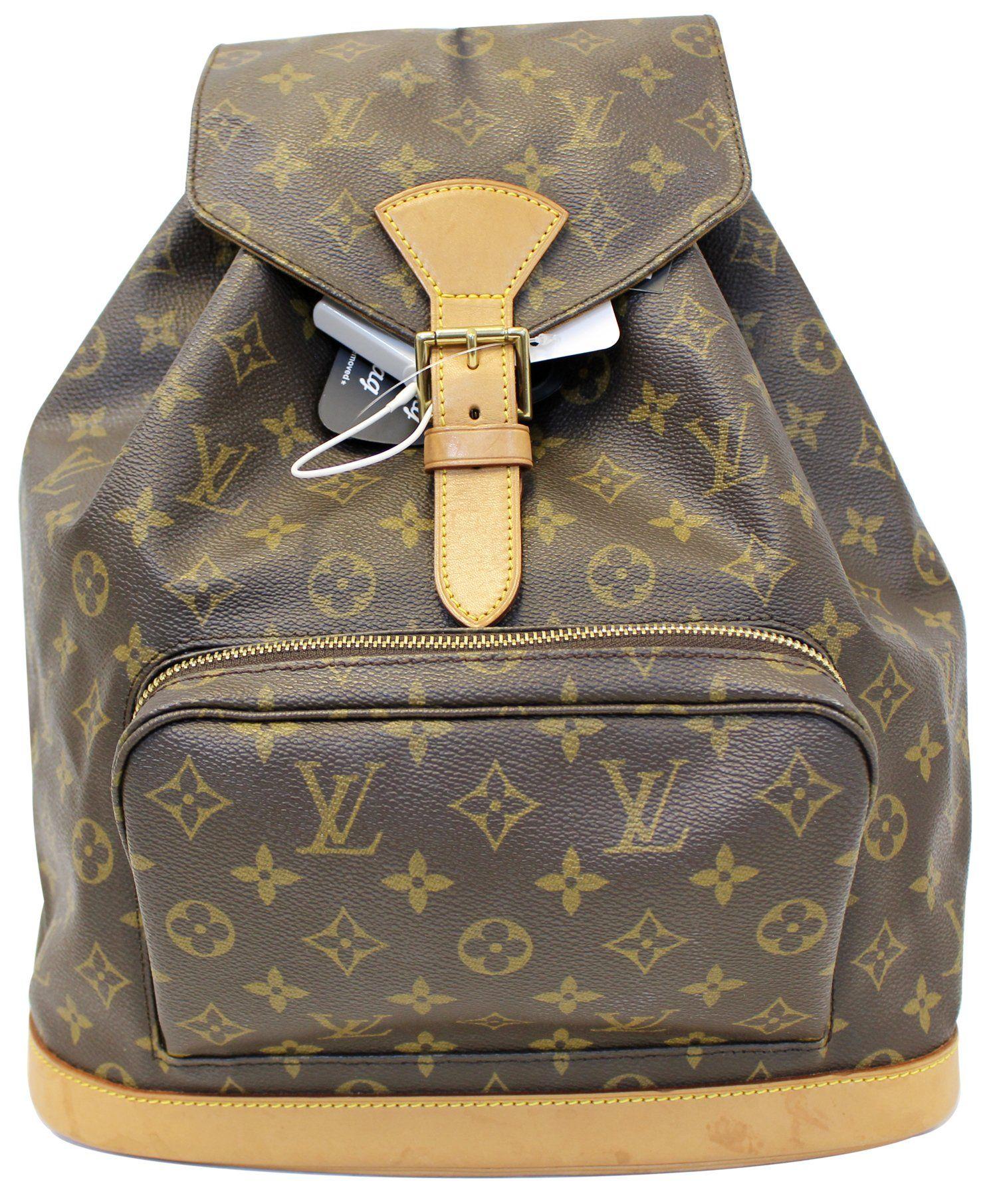 557ca4cd43c08 LOUIS VUITTON Montsouris GM Monogram Canvas Backpack Bag Brown