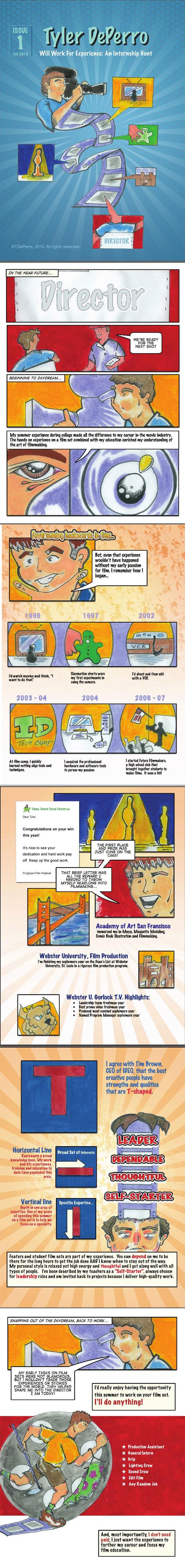 Visual Resume Example Cartoon  Graphics Illustration Design