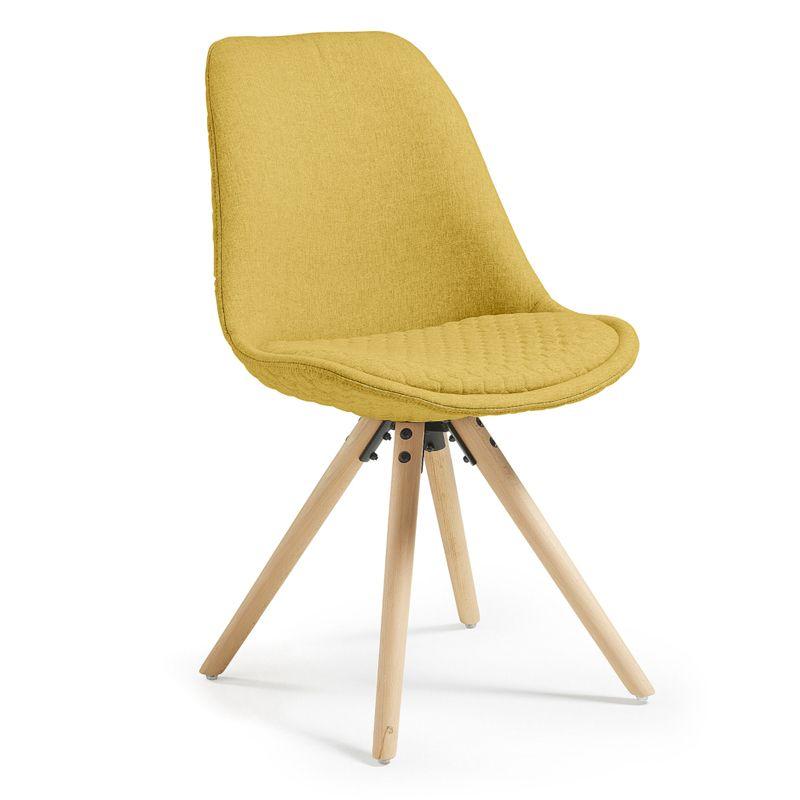 Silla · Chair Sasha Tejido de diseño nórdico 81,5x47x50 Patas en ...