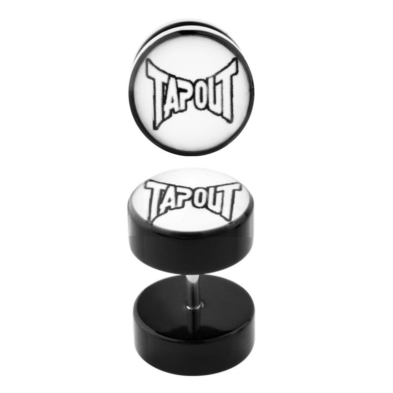 Tapout Logo 18G Faux Acrylic Ear Plugs  1 Pair