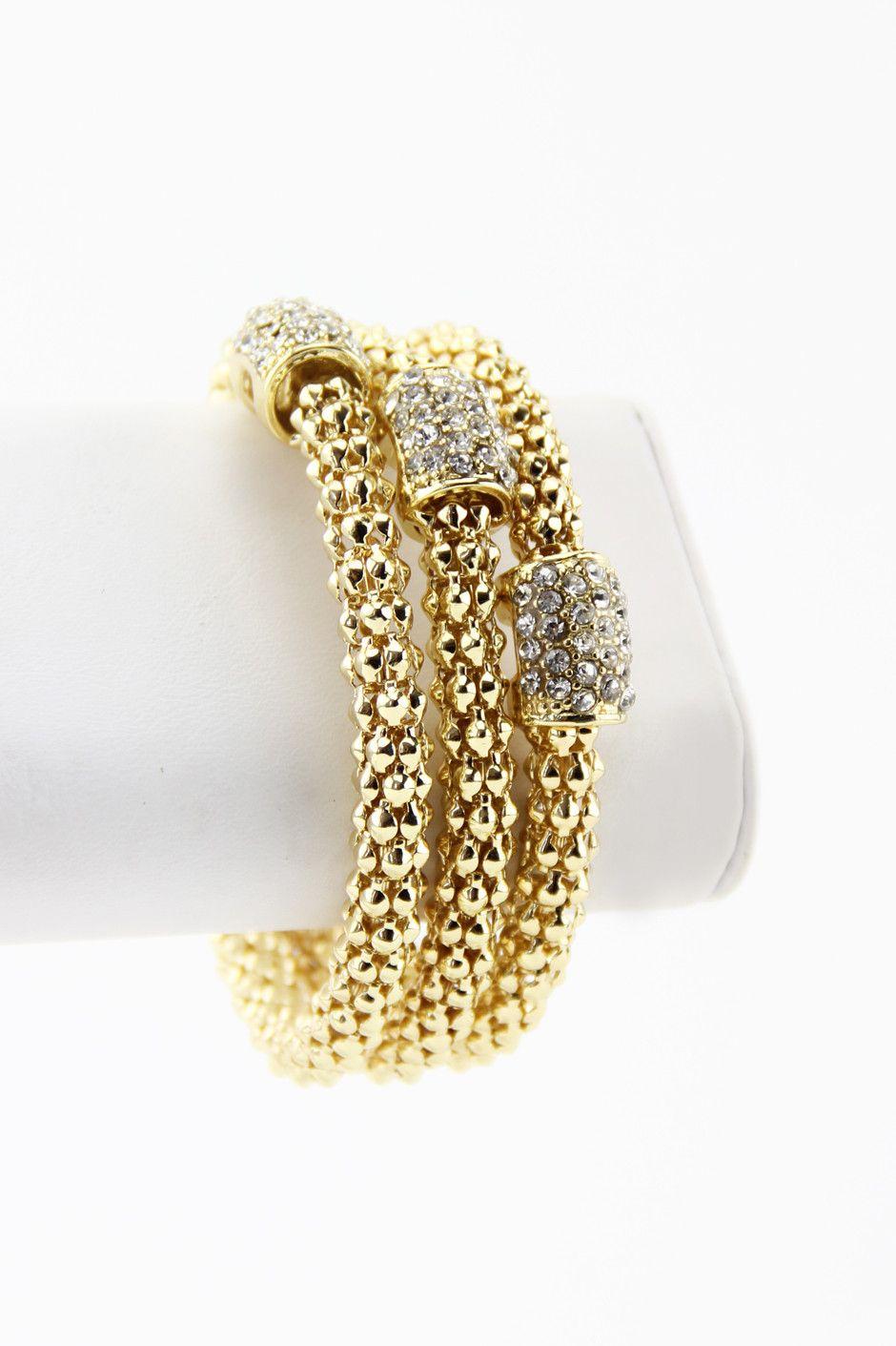 Triple gold rope bangles gold bangle jewelery and nice