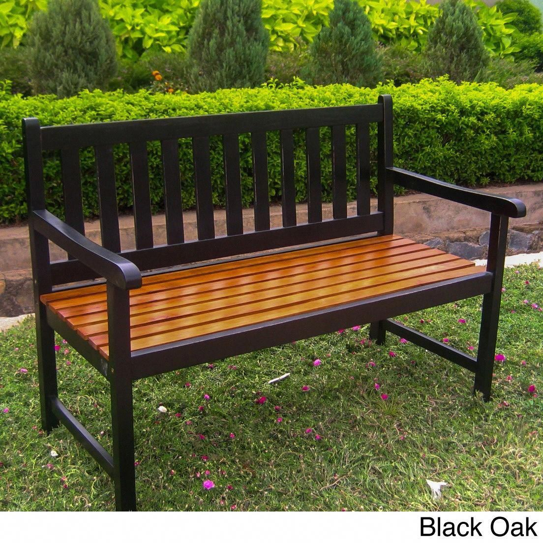 This Attractive Solid Acacia Wood Bench Will Help You Relax In Style The Three Vibrant Color Options Are Wooden Garden Benches Outdoor Furniture Outdoor Bench